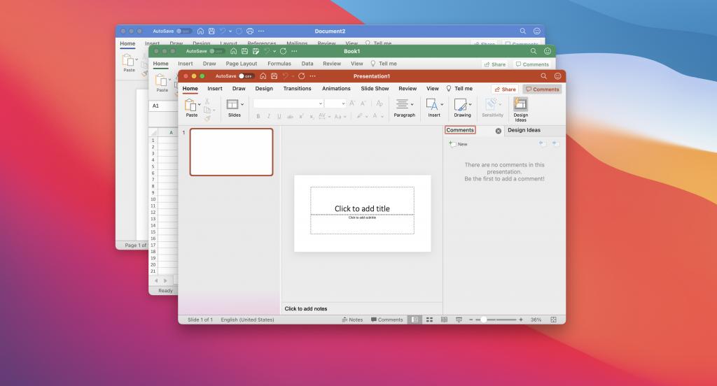 Office apps on Mac